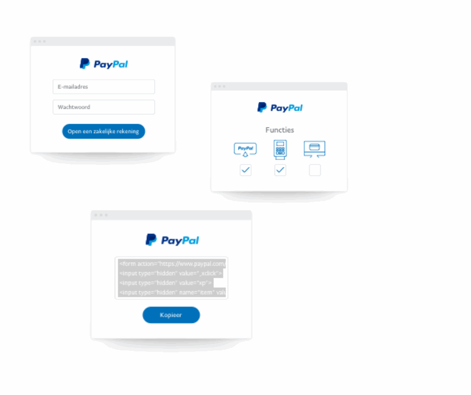 Create a PayPal sales account first, establish an API connection with Buckaroo later