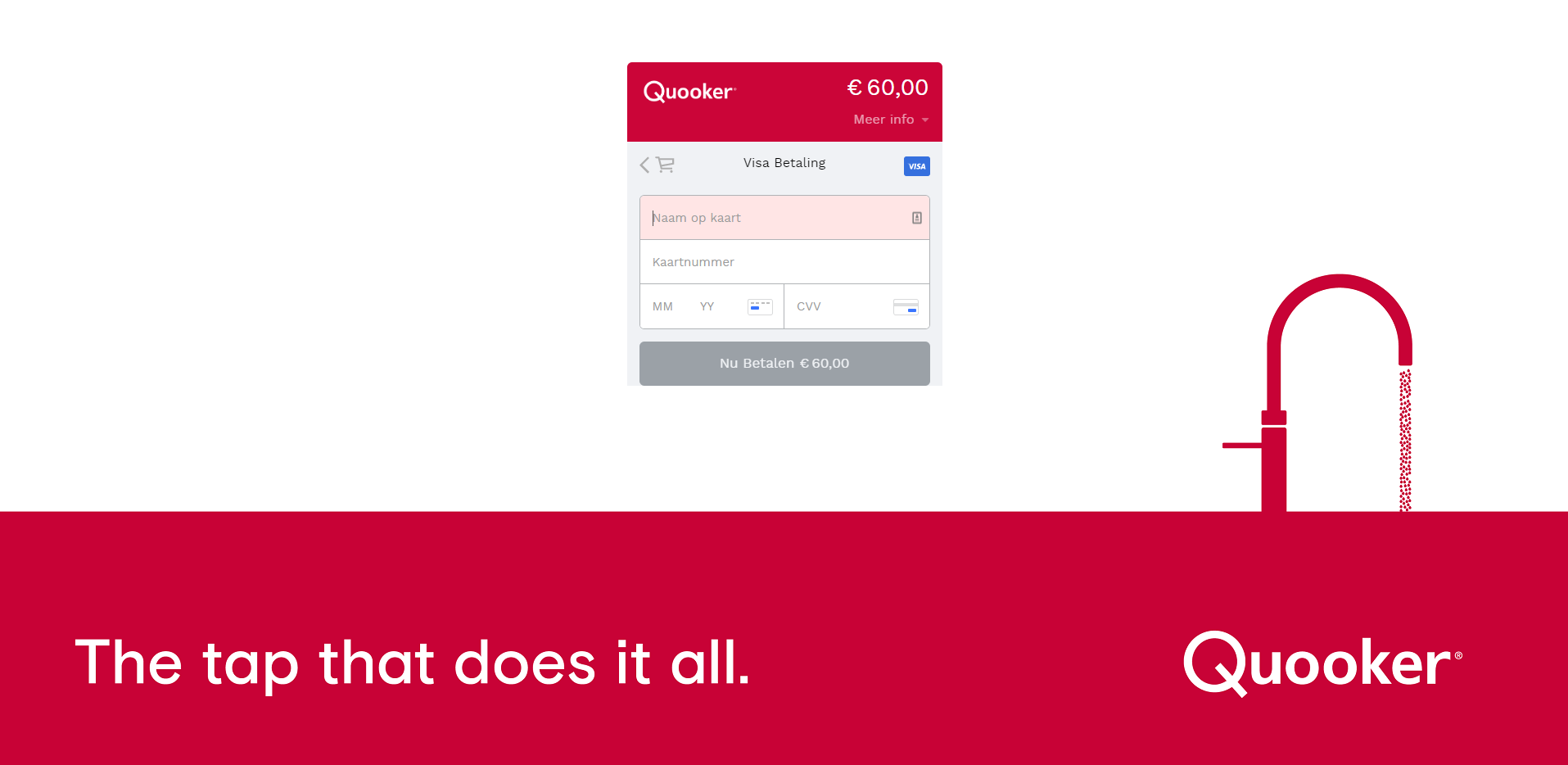Quooker smart checkout