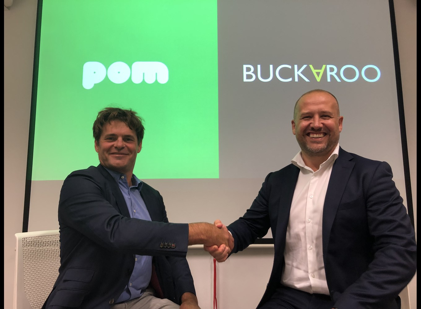 Johannes Vermeire (CEO at POM) and Alexander van Leeuwen (Relation Manager at Buckaroo)